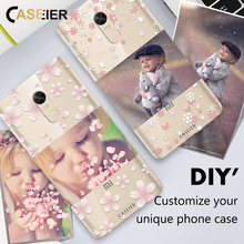 CASEIER DIY Unique Phone Case For xiaomi For xiaomi redmi 4 4x 4A note 4x MIX Silicone TPU Cases For Redmi 3s Note Pro 5X S Case(China)