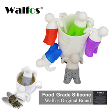 WALFOS Tea Strainers Hot Cute Useful Tea Infuser Tea Leaf Strainer Filter Diffuser Silicone Kitchen Tools tea bag accessories(China)