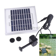 5.5W Solar Powered Pond Pool Pump Battery Control + LED Solar Water Pump