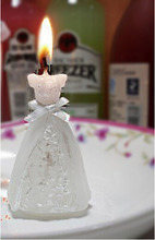 Wedding Candle White Elegant Boxed Bridal Bride Gown Dress Design Candle Wedding Party Decor Hot Item
