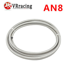 VR RACING- AN8 Double braided Stainless steel teflon fuel Racing Hose Fuel Oil Line AN8(ID:10MM,OD:15MM) VR7513