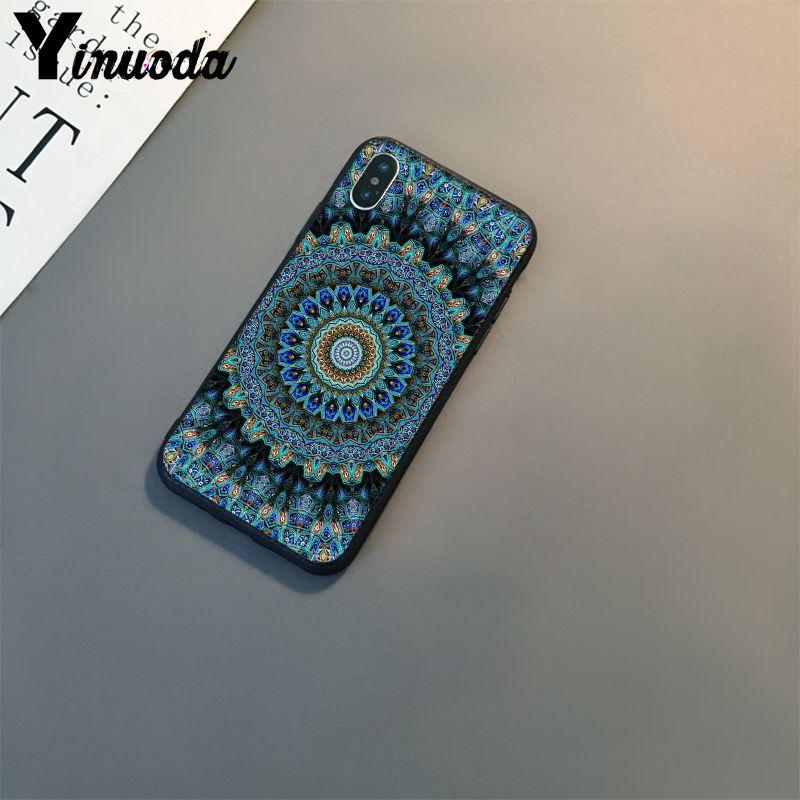 Blue totem mandala flower