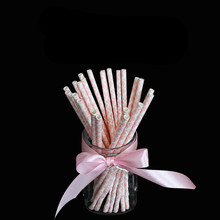 25pcs/lot Retro Vintage Paper drinking straw FOR Party Drinking Straws Birthday Wedding Decoration