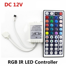 DC12V 6A 72W IR RGB LED Controller 44 Keys LED Driver Remote Dimmer For LED Strip RGB SMD 2835 3528 5050 3014 5630(China)
