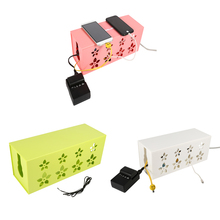 3 Sizes 3 Colors DIY plastic cable storage box Practical Power Strip Plug Socket Storage Case Cable Wire Cord Tidy box