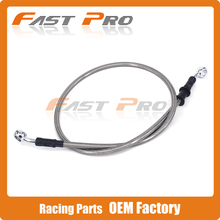 Silver Motorcycle 500mm-2000mm Braided Steel Hydraulic Brake Clutch Radiator Oil Cooler Hose Line Pipe Tube 28 Degree Banjo