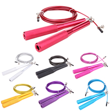 Double bearing rope skipping Metal Speed Exercise Fitness Crossfit Jump Gym Skipping Rope Weight-bearing racing skipping(China)