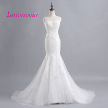 Buy Wedding Dresses 2018 Vestido De Noiva Fashion Vintage Lace Sexy Mermaid Train Vestidos Plus Size Wedding Gown Bridal Dress for $183.20 in AliExpress store