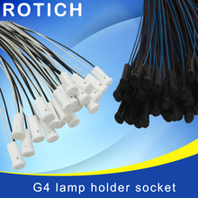 10pcs Free shipping,high quality 50CM Crystal lamp holder lamp holder socket,G4 led/G4/bulb plug,12V 10-20W,lighting accessories(China)