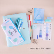 A5 Colored Spiral Notebook With Filler Papers Pens Tapes Stickers Overvalued Stationery Set Package School Student DIY Planner(China)