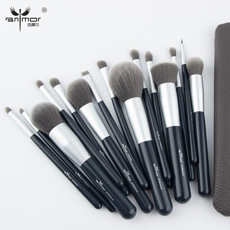 Nouveau Maquillage Brosses 12 pcs Ensemble En Bambou Make Up Brosse Souple Synthétique Collection Kit avec Poudre Contour Fard À Paupières Sourcils Brosses 13