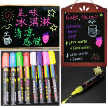 8pcs Luminous Color Highlighter Fluorescent Liquid Chalk Marker Neon Pen Led Wordpad 6mm
