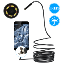 6 LEDs 5.5mm USB Endoscope 10M Cable Android Mini Sewer Camera Borescope For OTG USB Pipe Camera Snake Camera Car Inspection
