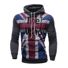 2016 NEW men hoodies fleece hoody men sweatshirts top brand fashion printed men clothing outwear plus size M-4XL Free shipping