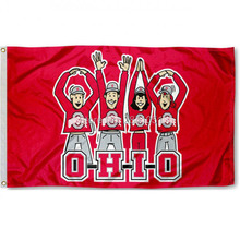 7 Color Ohio State Buckeyes Nation Ohio State Team American Outdoor Indoor Football College Flag 3X5 Custom Any Flag(China)