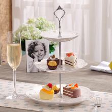 3 Layers Cake Stand Rod Kitchen accessaries Stainless Steel Silver Cake Plate Stand Cupcake Display Trays Stand
