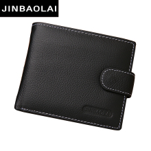 Genuine Leather Men Wallets Brand High Quality Design Wallets with Coin Pocket Purses Gift For Men Card Holder Bifold Male Purse(China)