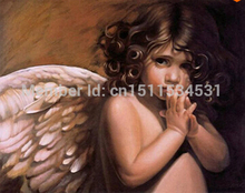 Frameless DIY digital oil paintings fashion decorative picture 40 x50 painting by numbers kits homedecor,angel painting HY022