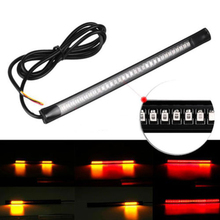 1PC Universal Flexible Motorcycle Light 48 LED SMD Strip Motorcycle Car Tail Turn Signal Brake Light for Light Accessories(China)