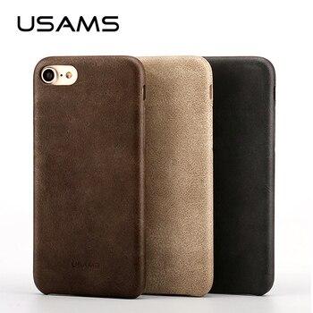 Pour Coque iphone 7 Case 4.7 pouce USAMS Bob Série PU En Cuir Case pour iphone 7 Plus 5.5 pouces Téléphone Case Couverture Sacs et cas
