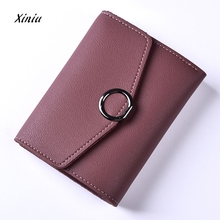 Fashion Women Leather Wallet Clutch Purse Lady Short Handbag Bag Slim Mini Wallet Women Small Clutch Female Purse Coin Holder(China)