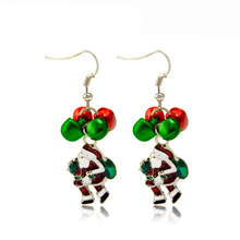 Europe United States retro earrings Santa Claus Earrings Enamel Christmas earrings Xmas Christmas Gift For Friend EH045