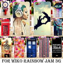 TAOYUNXI Rushed Silicone Phone Cover Case For Wiko Rainbow Jam 3G 5.0 inch Case Soft TPU Hard Plastic Color Eye Painting Housing(China)