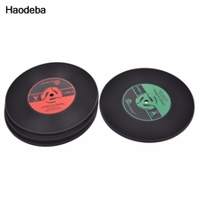 Haodeba Useful Food Grade Plastic Vinyl Coaster Novelty Cup Cushion Drinks Holder Dining Decor Tableware Placement Mat 6Style(China)
