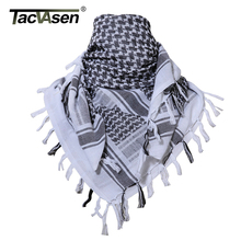 TACVASEN 2017 Military Shemagh Scarf Tactical Desert Arab Keffiyeh Scarf Arabic 100% Cotton Paintball Camouflage Head Scarf(China)