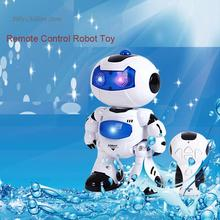 Musical Remote Control Robot RC Electronic Toy Robot Pet Walk Dance Lighten Musical Electric ToyS For Children Kids Boy Gift