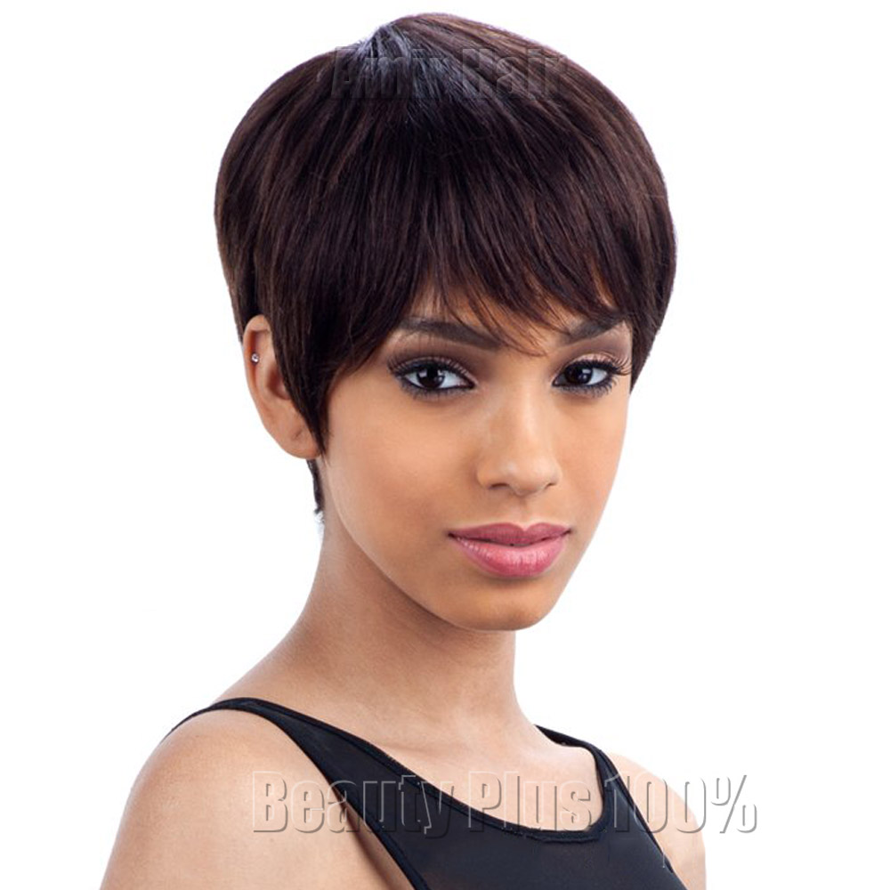 Fashion New women Stylish womens Cut Hairstyle Synthetic Wigs Short Hair straight Wigs for Africans Black Women Perruque Natural<br><br>Aliexpress