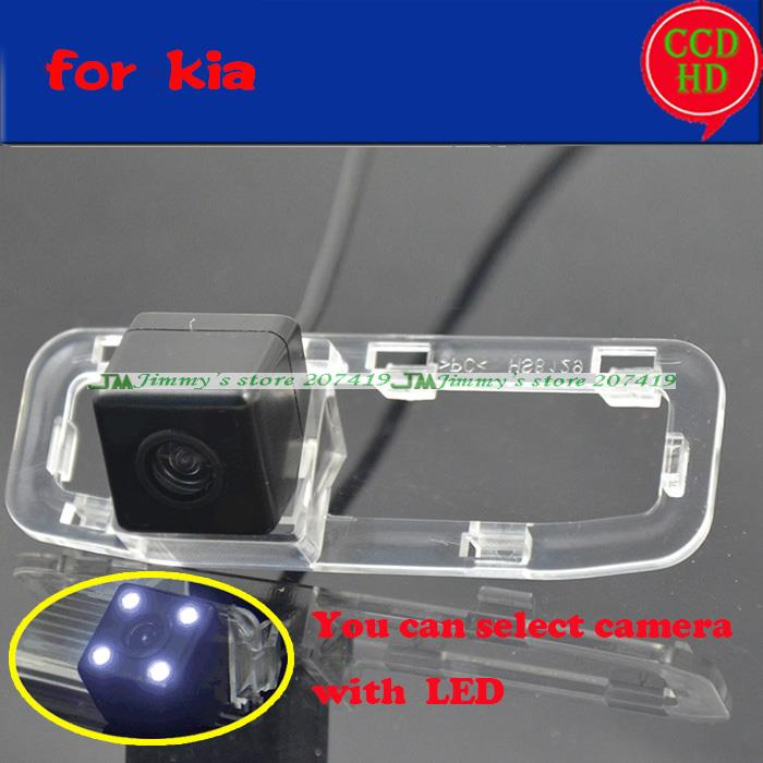 for kia RIO 2007 2012 car rear view reversing camera with lEDS HD night vision wire wireless parking camera wide angle(China (Mainland))