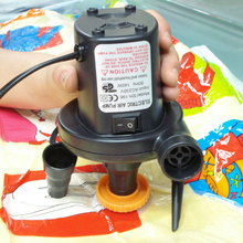 Wholesale US Plug 230 V/4800PA AC Car Electric Air Pump For Camping Airbed Boat Toy Inflator(China)