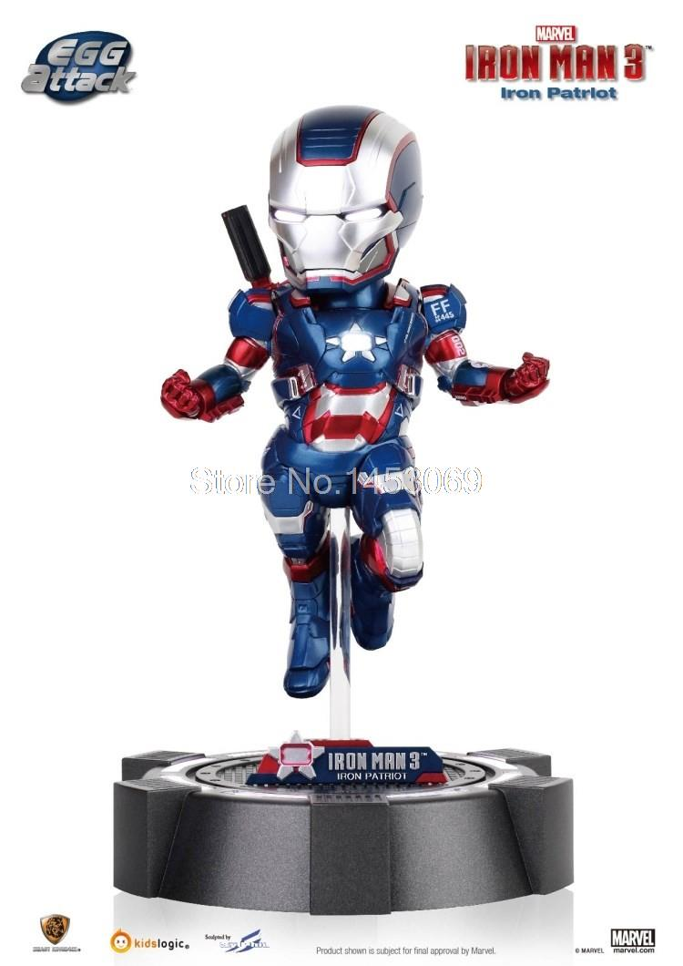 Free Shipping Super Heros Egg Attack Ironman Iron-Patriot 18cm Action Figure Collectible Model Toy IR010<br><br>Aliexpress