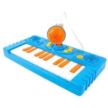 Price reduction Cartoon Keyboard Music Toy With A Microphone for your baby kids to singing the song and listen to the misic(China)