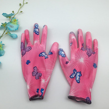 NMSafety 12 Pairs 13 gauge polyester garden Work Flower Gloves for Women or kids(China)