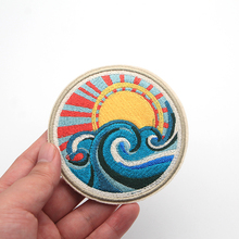 Buy 2pcs/lot Japan Harajuku Patch Spray Waves Sunlight Embroidery Sew Patches Clothes DIY Accessory Applique Bag Armband for $3.20 in AliExpress store