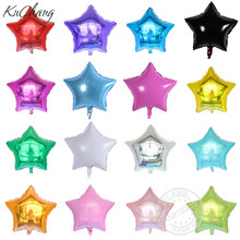 5pcs/lot 45*45cm five-pointed star shaped foil Balloons Helium Metallic pure color ballons Wedding birthday party decor(China)