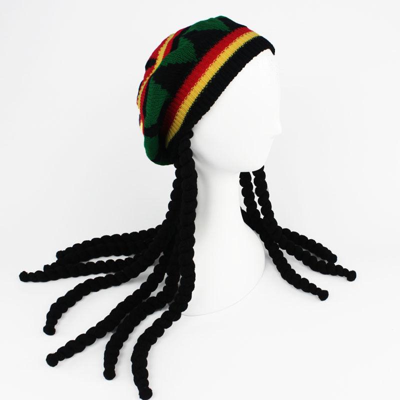 Sombrero de punto jamaiquino de Rasta con peluca de piedra Dreadlocks  Vestido de fiesta caribeño