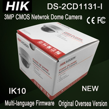 DS-2CD1131-I New Hik 3MP dome IP camera IK10 2-axis adjustment cheap IPC w/ POE replace DS-2CD2135F-I H.264+ 30m IR Non SD card