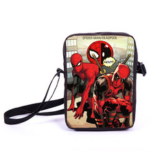 Comics Spiderman Messenger Bag Spider Man Boys Girls Shoulder Bag Children School bags Women Print Deadpool Mini Crossbody Bags(China)