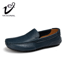 VESONAL New 2017 Summer Luxury Flats Loafers Men Shoes Casual Fashion Slip On Driving Breathable Genuine Leather Patchwork V2028