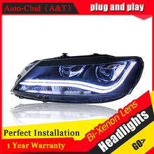 car styling For VW Passat headlights U angel eyes DRL 2011-2014 For VW Passat LED light bar DRL Q5 bi xenon lens h7 xenon