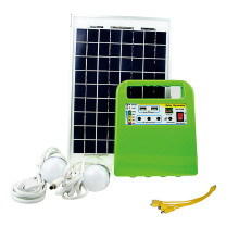 1Set Portable Outdoor Emergency Solar Power Generator Charge Lighting System Kit 10W Solar Power Lamp Bulb Camping Tent Lantern(China)