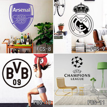 Football World Cup Logo Art Poster Mural Football Club Home Decor Mark Flag Soccer Sign Vinyl Decal Removable Wall Stickers Free