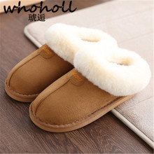 Home slippers women plush Slipppers Australia UG style female house Indoor man Bathroom slippers solid Adult pantufa CTSLP-162(China)