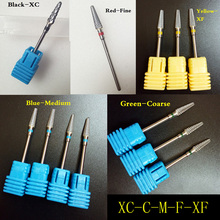 In stock!2016 New design carbide nail drill bit electric nail file drill bit coarse carbide drill 3/32'' 602801 high quality