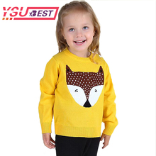 2018 New Boys Sweater Spring Baby Kids Sweaters Girls Costume Crochet FOX Top Animal Sweater Children Toddler Clothing Pullover(China)
