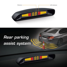 Car LED Display Parking Sensor Auto Parking Assist Reverse Car dvr Radar detector Alert Alarm System with 4 Sensors(China)