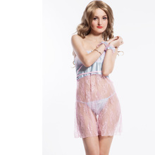 RA7768 Ohyeah brand free shipping pink sex dress wrapped chest lingerie plus size women fitness negligees(China)